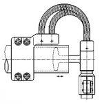 Ligador Elástico T / 90º Bimetálico